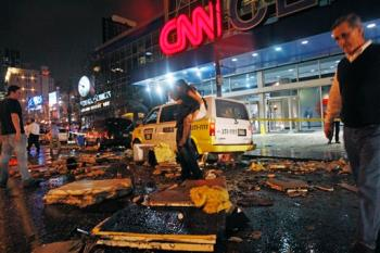 Debris at the CNN Center